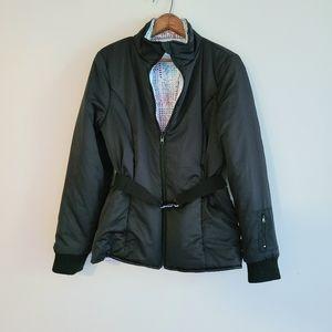 Fabletics black belted puffer jacket